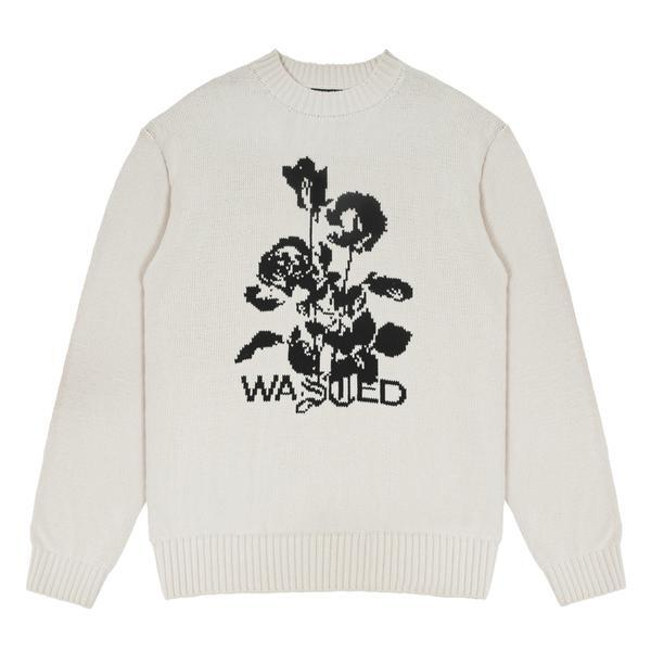 WASTED PARIS Unloveable Ivory Sweater WHITE