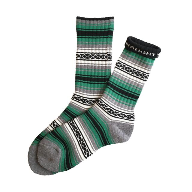 """FALSA -green-"" Socks (limited edition by NAUGHTY)"