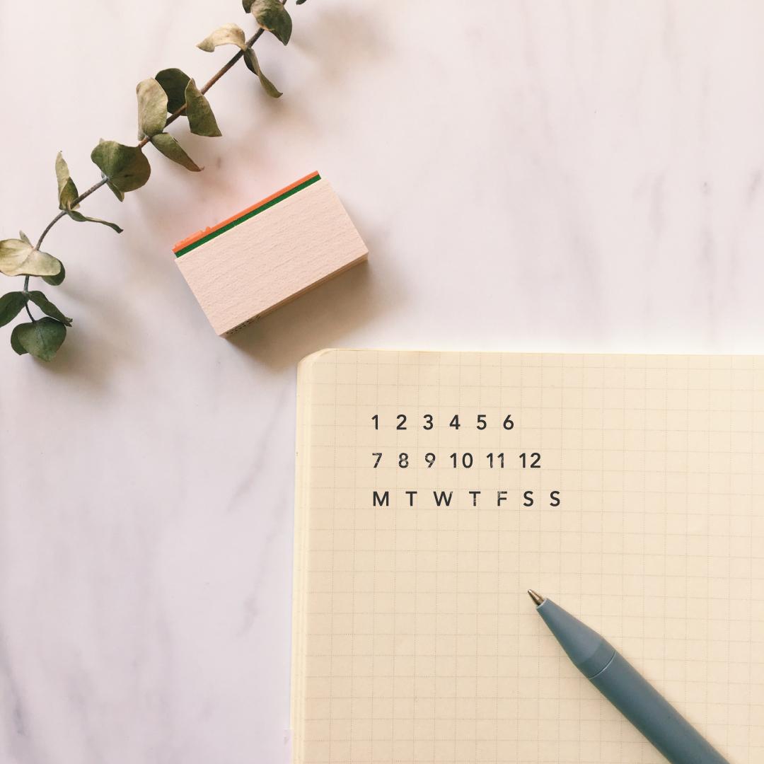 月・曜日スタンプ / month & day