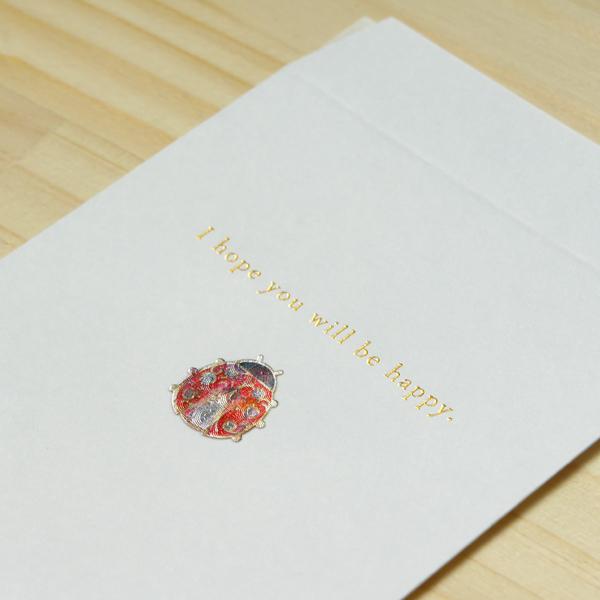 【テントウ虫】ハッピーモチーフ金封 KHM08-2