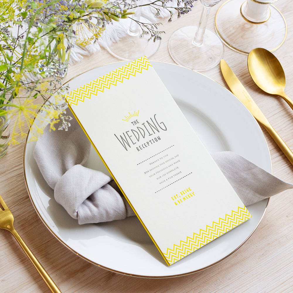 【手作りキット】gelato lemon席次表 / 10枚セット(1セット150円)