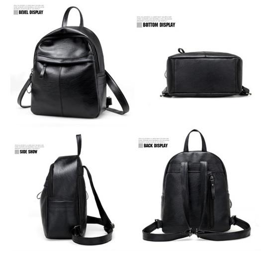 f45b4a30acc2 リュック ショルダー バッグ 黒 ちょっと小さめリュック PUレザー シンプル 内側ポケット
