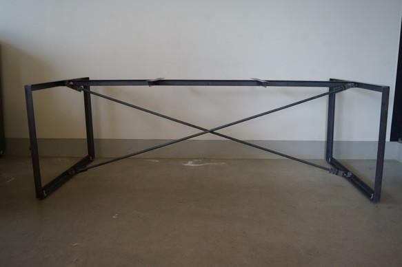 アイアン テーブル脚(組立式)オーダーサイズ自由(幅1500~2200)×奥行(700~900)×高さ(600~900)【送料込み】!】