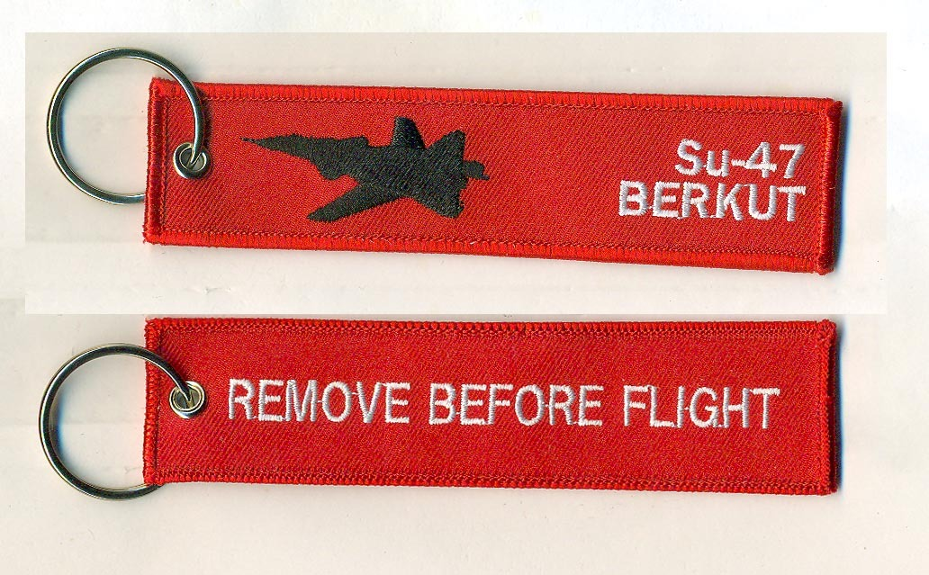 REMOVE BEFORE FLIGHTキーホルダー/Su-47 BERKUT