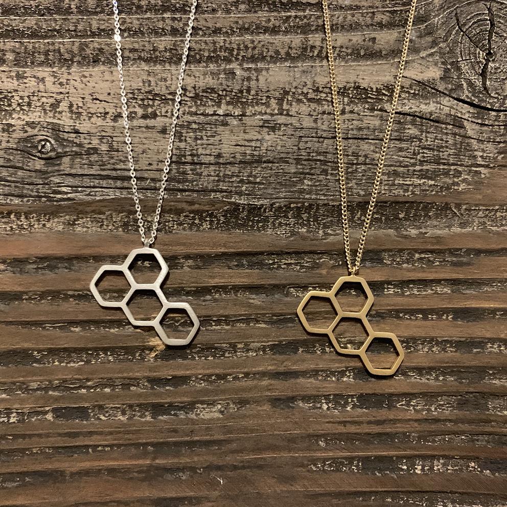 蜂巣 / Hachinosu (Silver925 / K18コーティング)