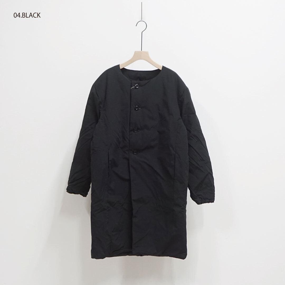 NARU ナル ノーカラーロングダウンコート 【返品交換不可】 (品番634102)