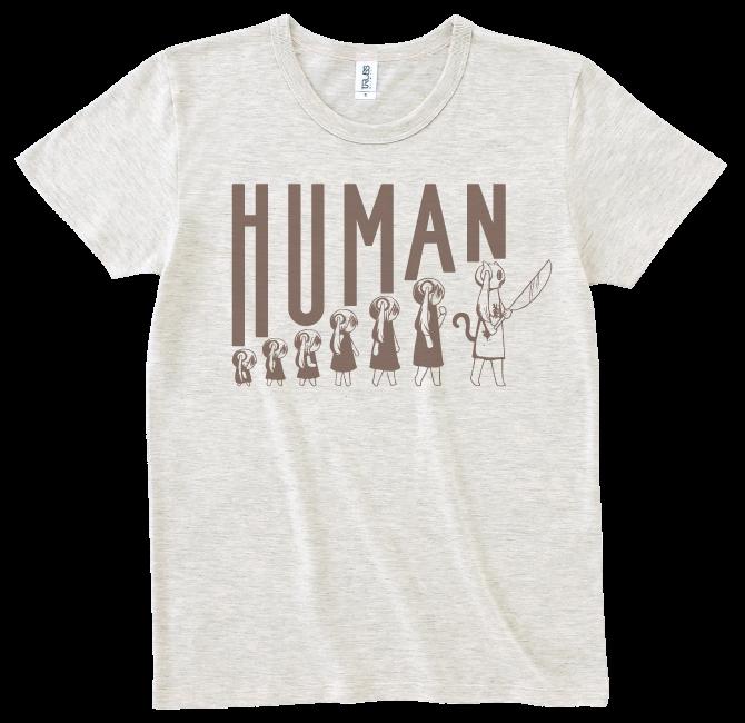 ピノキオピー 人間が着るやつTシャツ(メンズ / オートミール) - 画像1