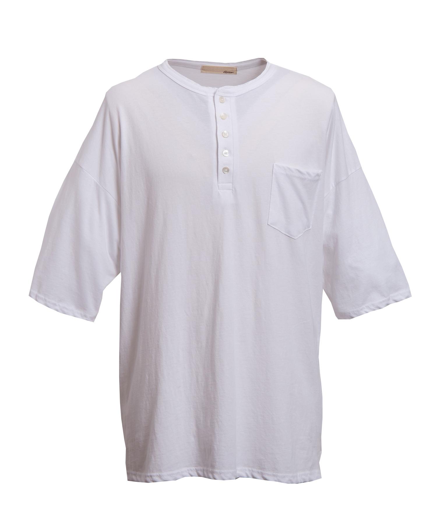 HENLEY NECK BIG T-shirt[REC220]