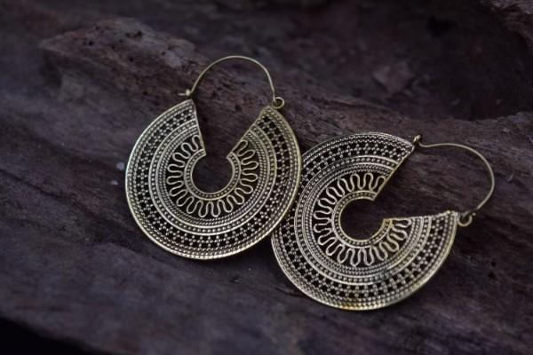 真鍮ピアス -伝統(BIG size)- 【India】