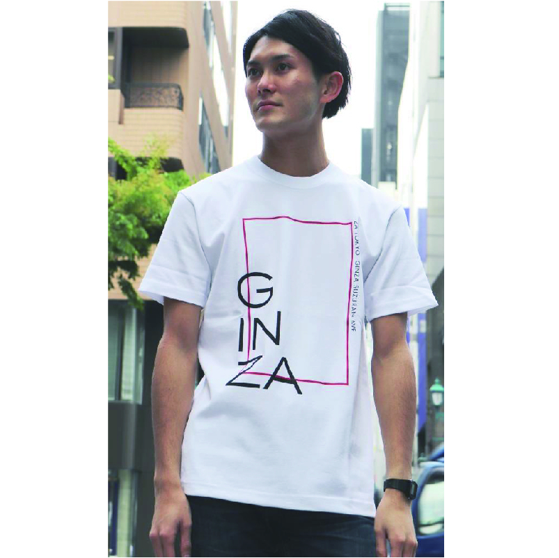 ZA TOKYO クルーネック  GINZAプリントTシャツ Z103