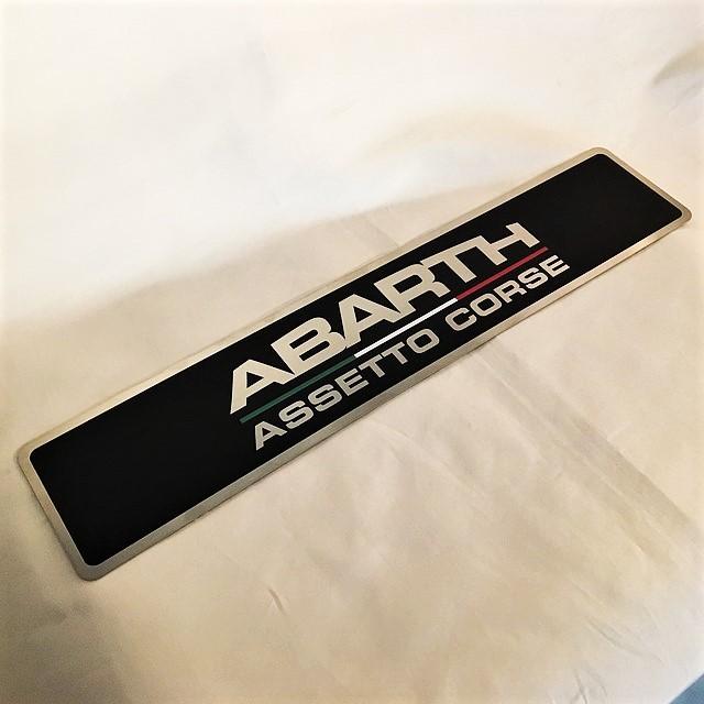 Abarth 500 Assetto Corse Plate【1枚のみ】【税込価格】