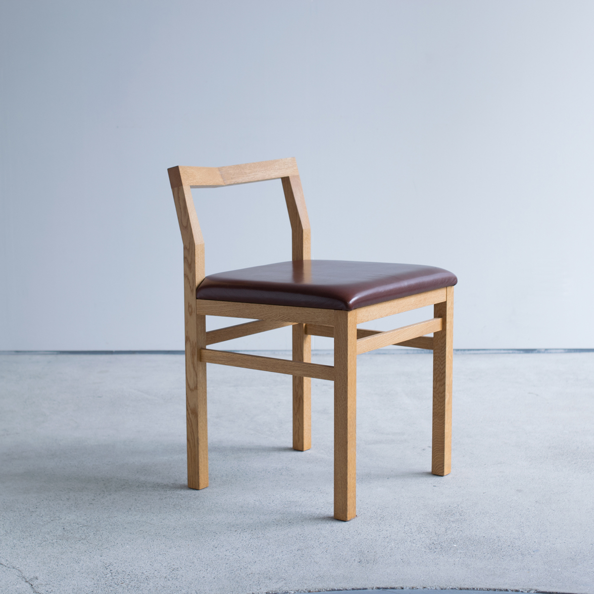 Pico Chair + leather seat / ナラ