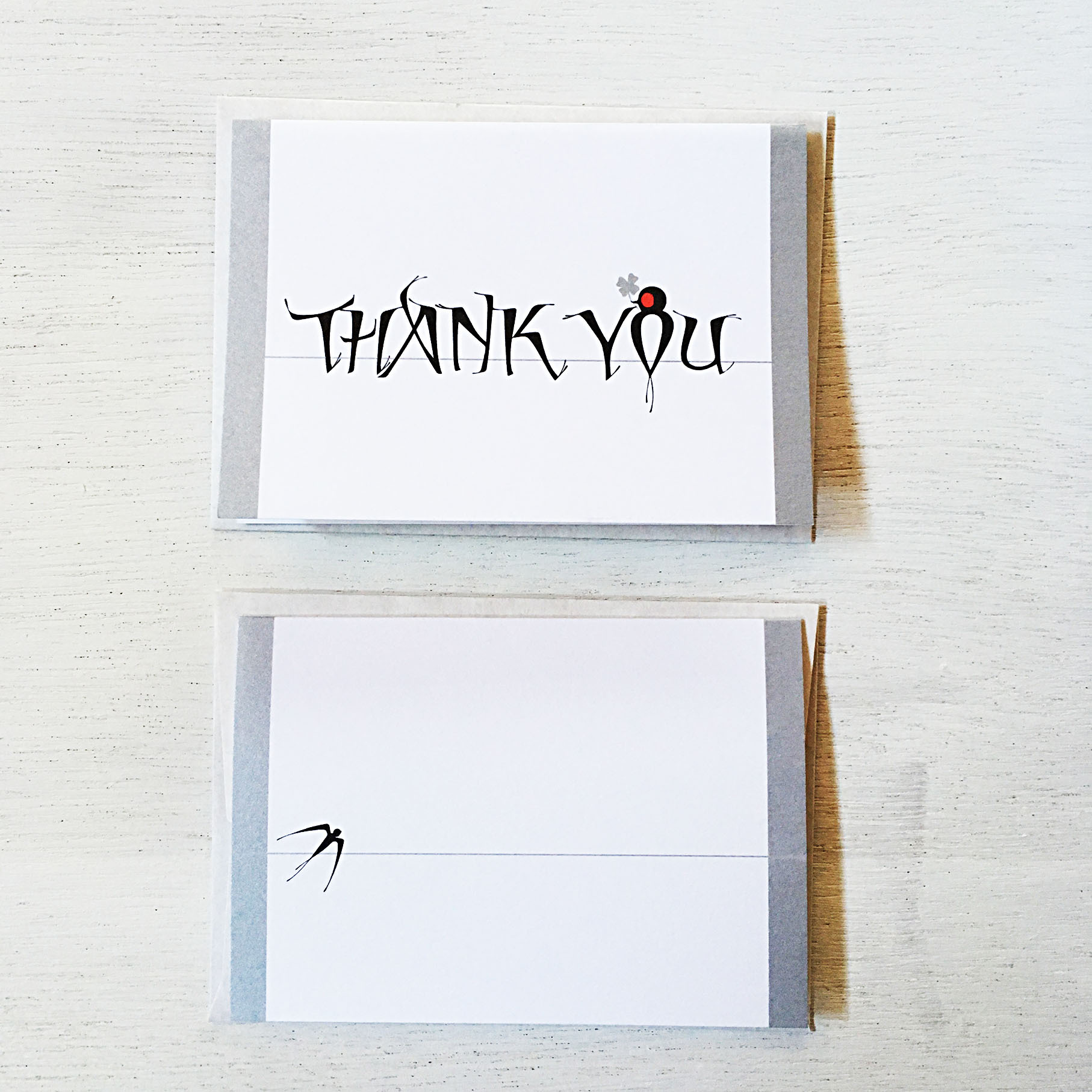 Swallows Thank you cards(つばめ・カード&封筒/3枚1セット)