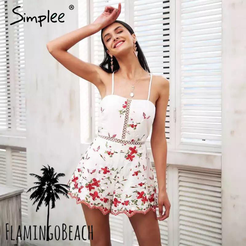 【FlamingoBeach】flower rompers ロンパース