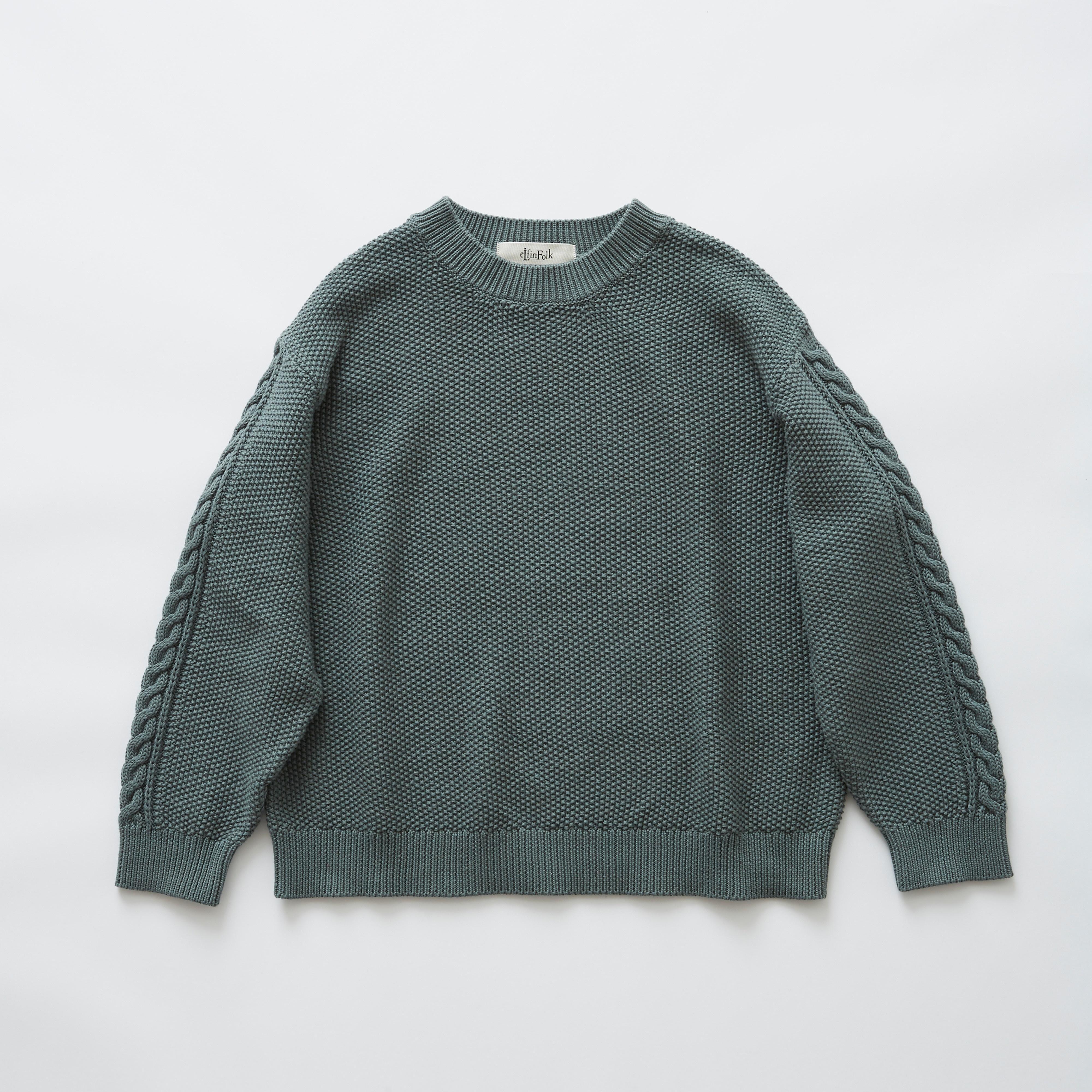 《eLfinFolk 2019SS》moss stitch sweater / sage green / F(大人)