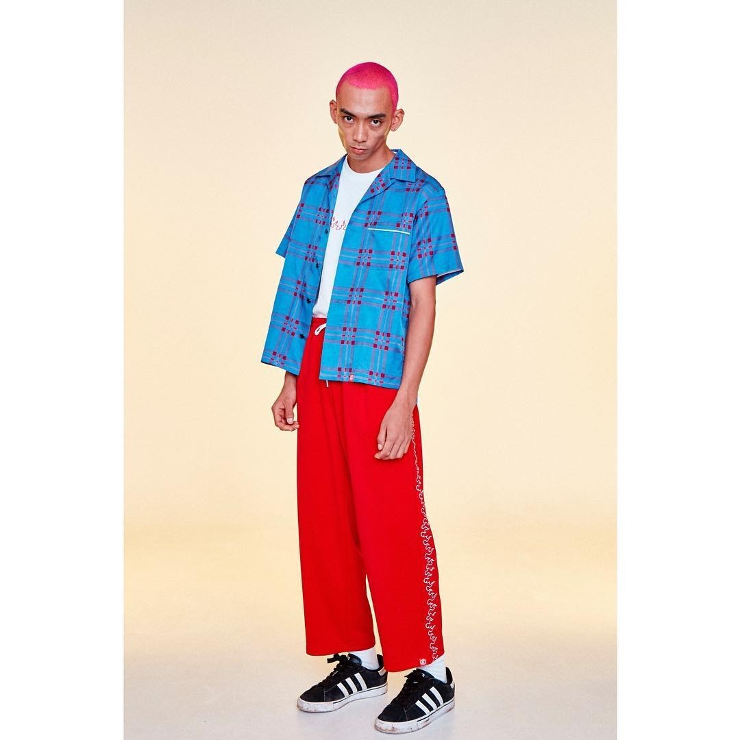 SKIN / FIRE TRACK PANTS -red - 画像4