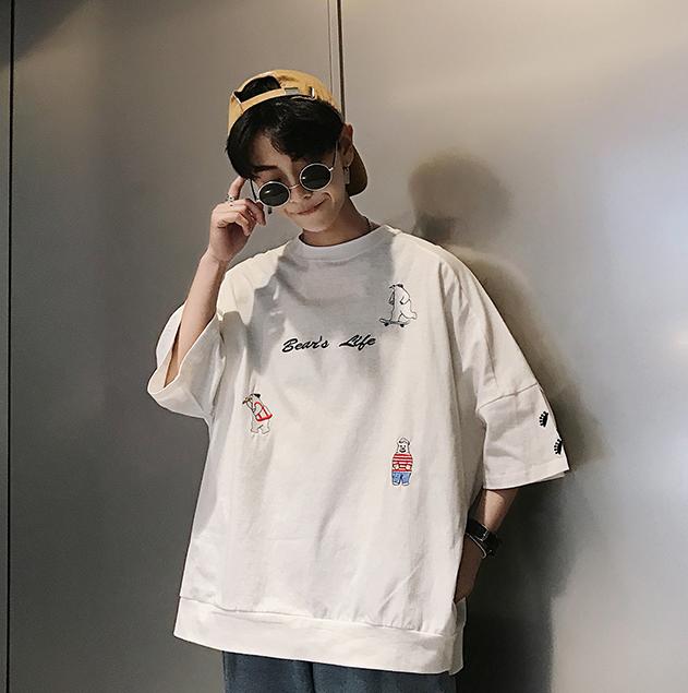 ビッグシルエット デザインキャラプリントシャツ 【全4色】