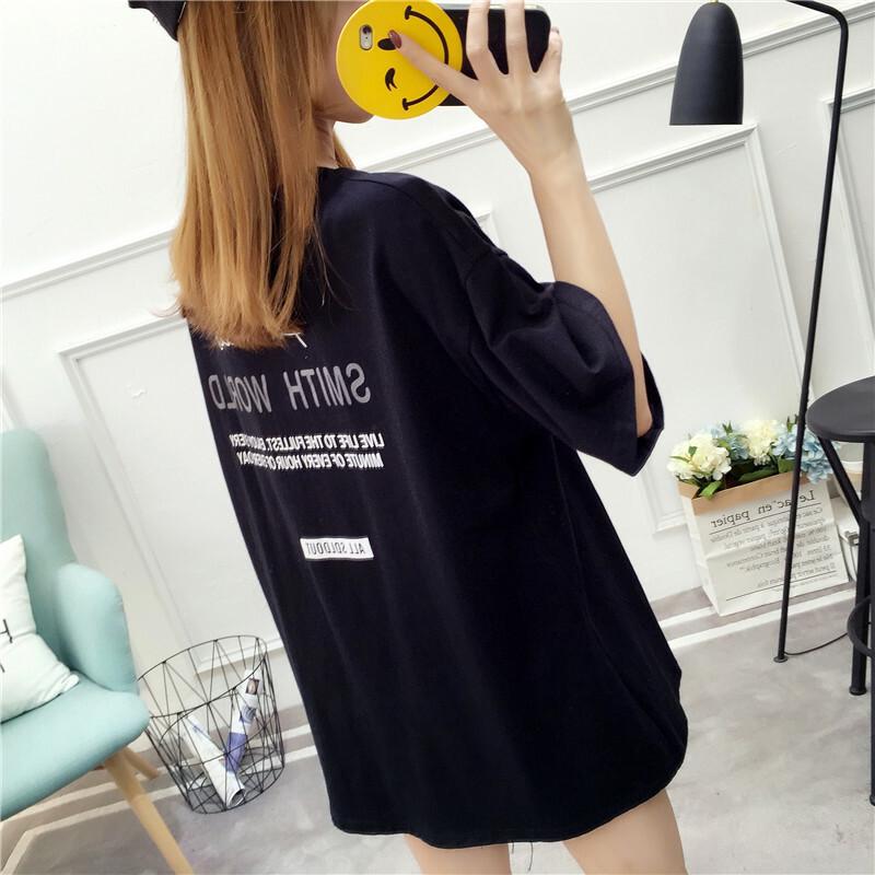 【tops】ゆったりアルファベットカジュアルTシャツ20519489