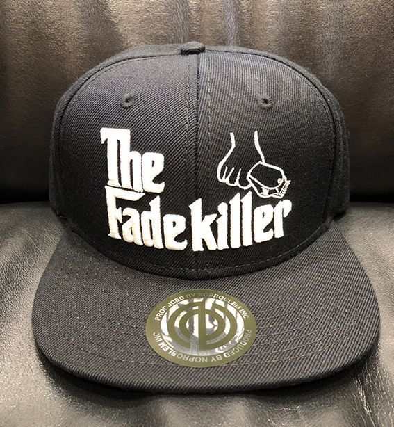 "BARBERS "" The Fadekiller"" CAP ブラック×ホワイト"