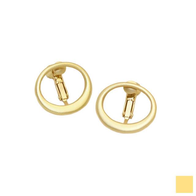 matte gold circle earring