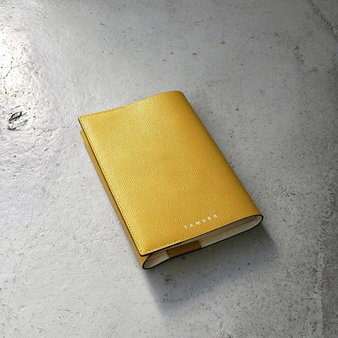 BOOK COVER(文庫サイズ)マスタード × アイボリー