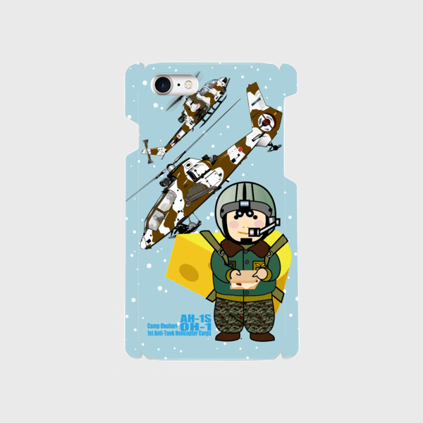 キャンプ帯広第1対戦車ヘリコプター隊スマホケース
