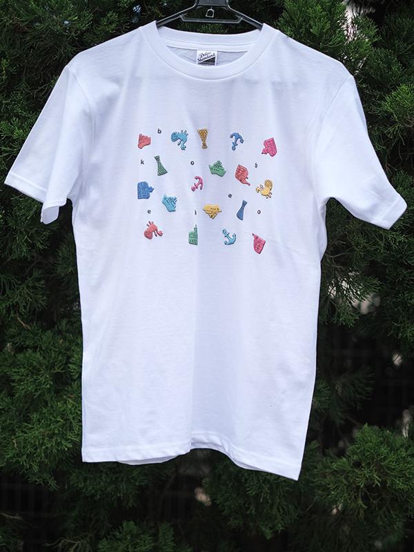 立体プリントTシャツ 神戸モチーフ 白