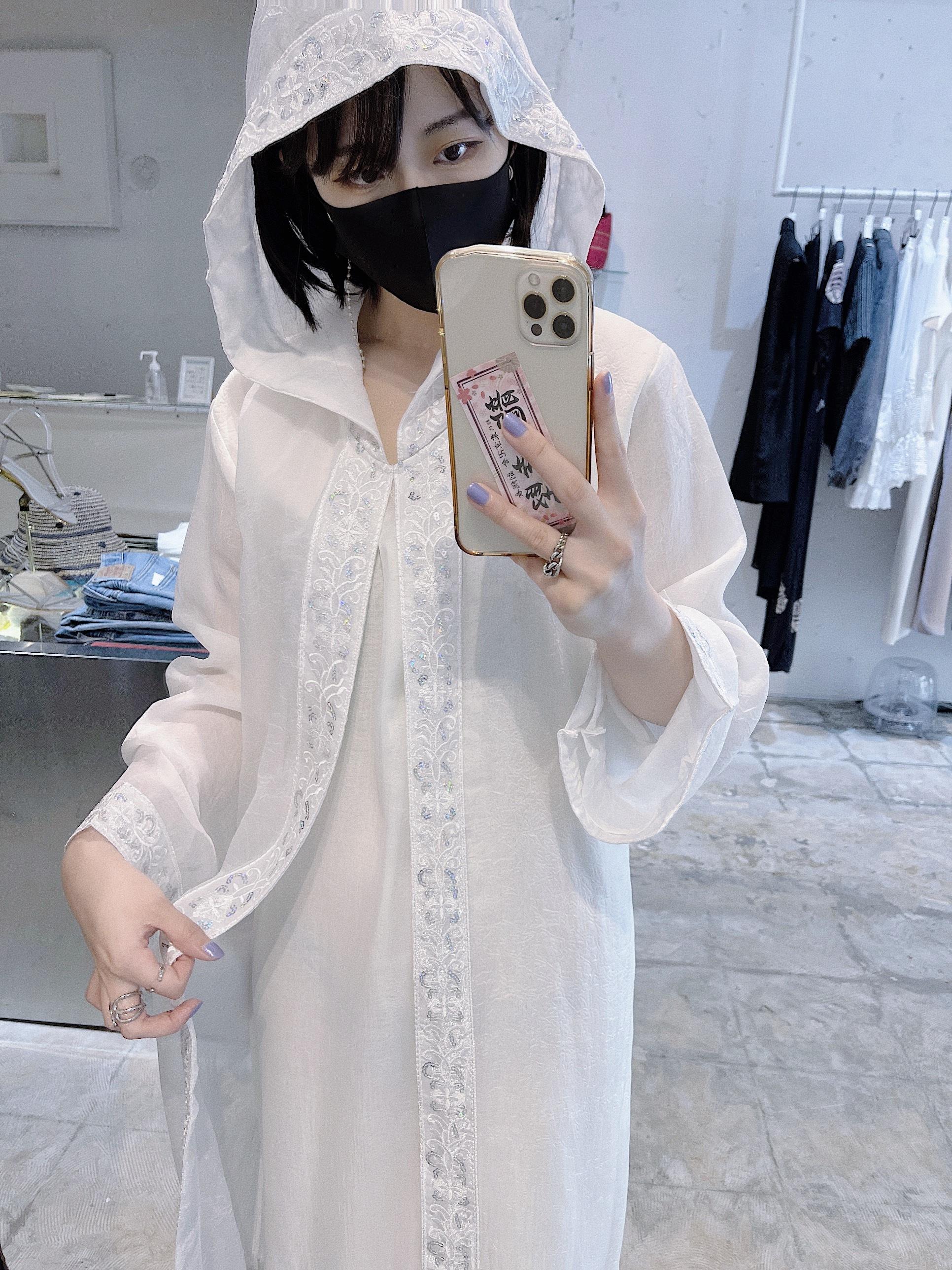 vintage sheer hoodie dress