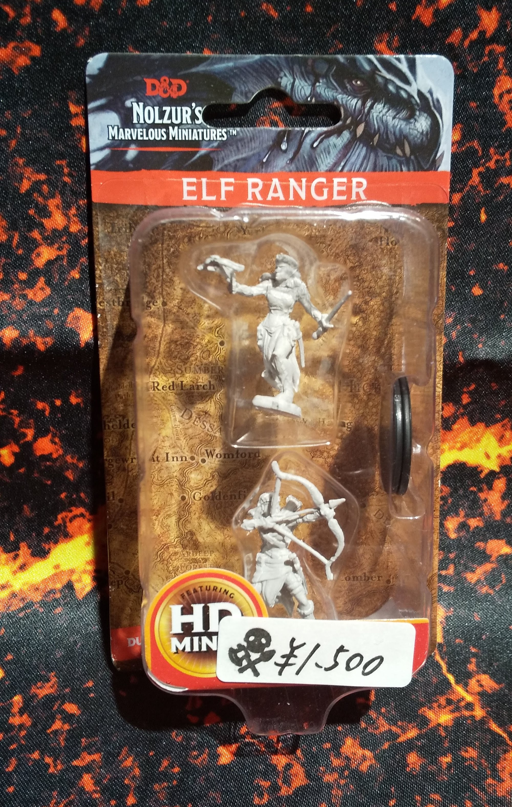 Elf Female Ranger(D&Dオフィシャルミニチュア「Nolzur's Marvelous Unpainted Miniatures」シリーズ)