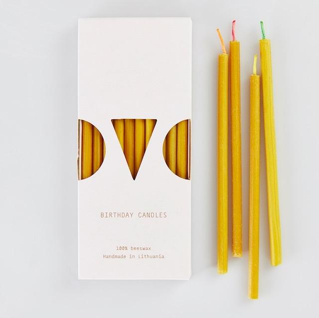 OVO Things リトアニアの蜜蝋キャンドル 10本入り(Birthday Candle)