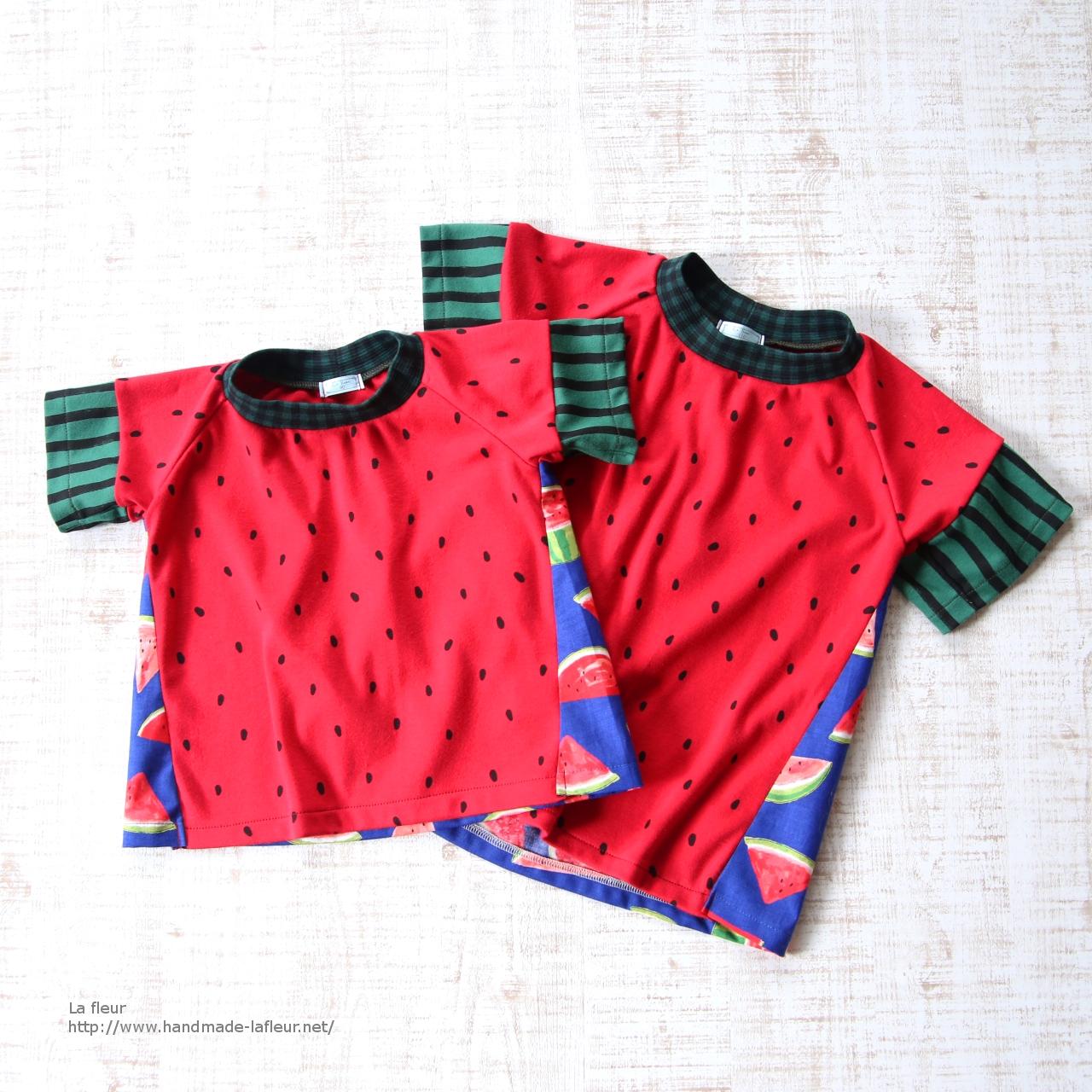 【110】スイカTシャツ男の子用*ロンリーTシャツ カットソー/Lafleur