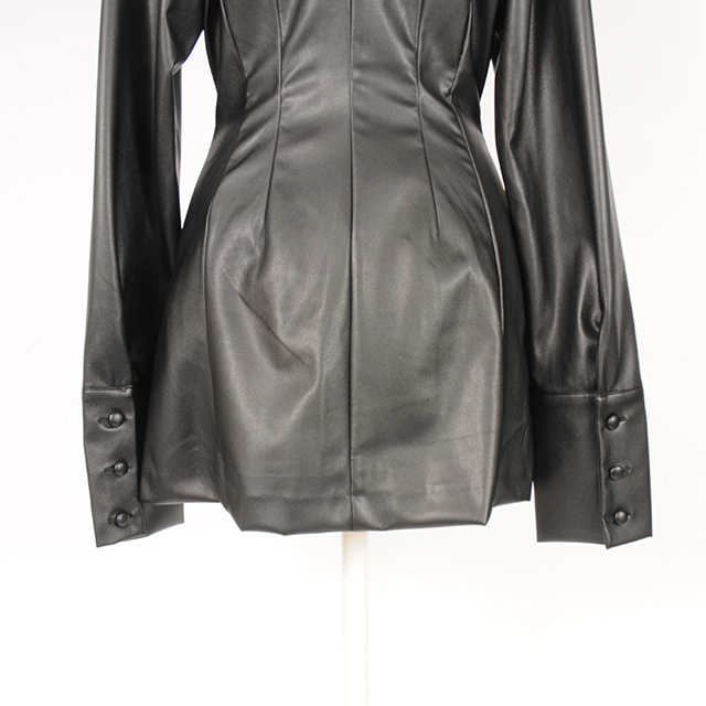 hs19AW-JR08 F/LEATHER SH/JK (black)
