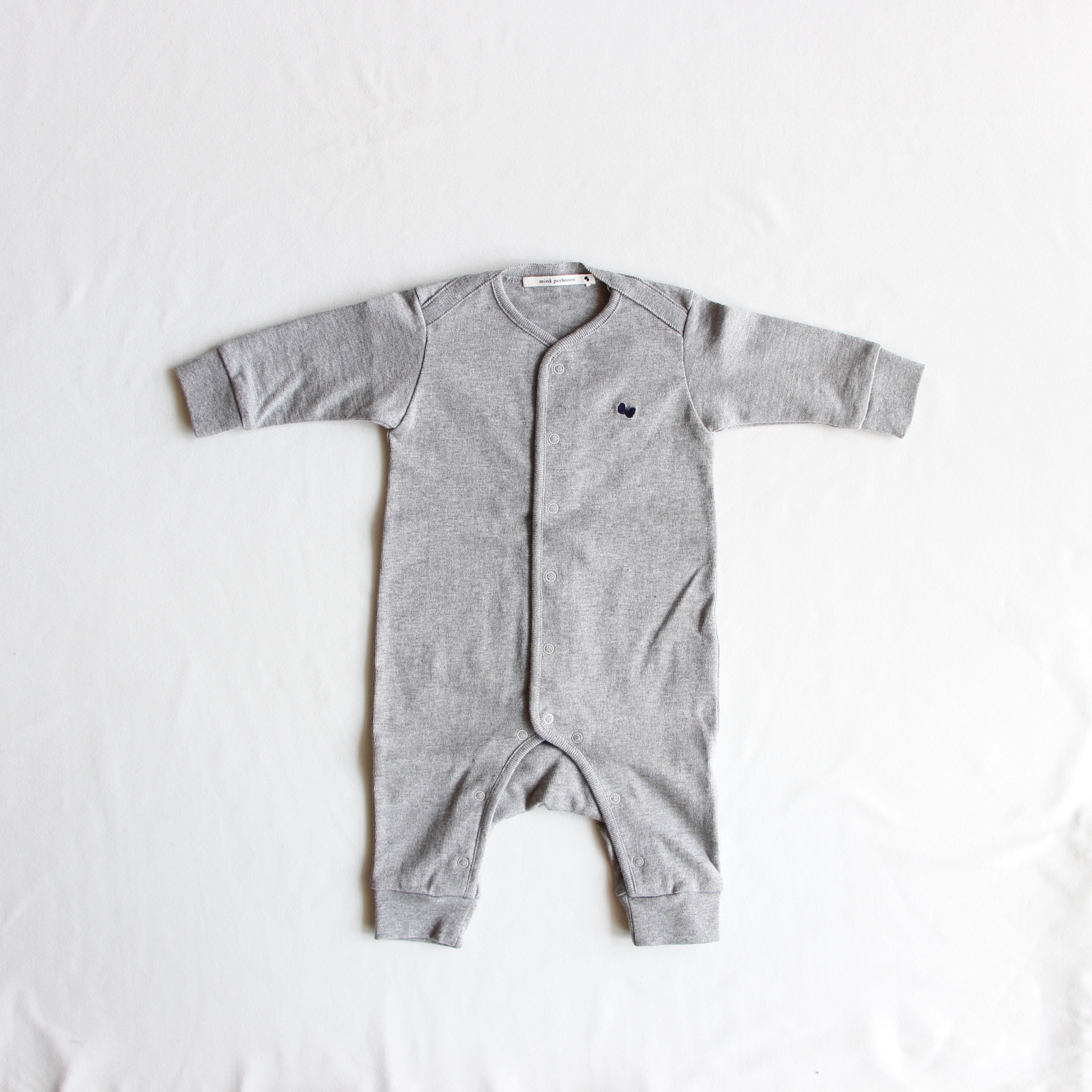 《mina perhonen》zutto ロンパース / gray / 60・70cm