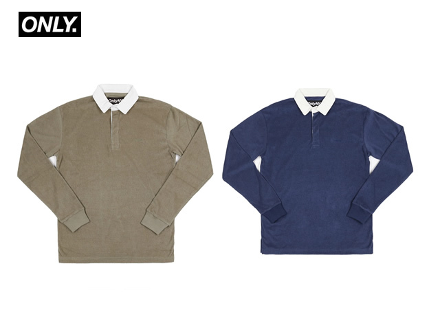ONLY NY|Terry Cloth Polo L/S Shirt