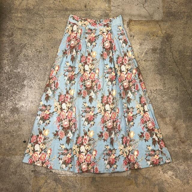 Floral Print Long Skirt ¥4,600+tax