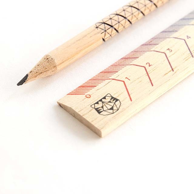 The Pensil + Ruler Set(KITCR02)・鉛筆と定規
