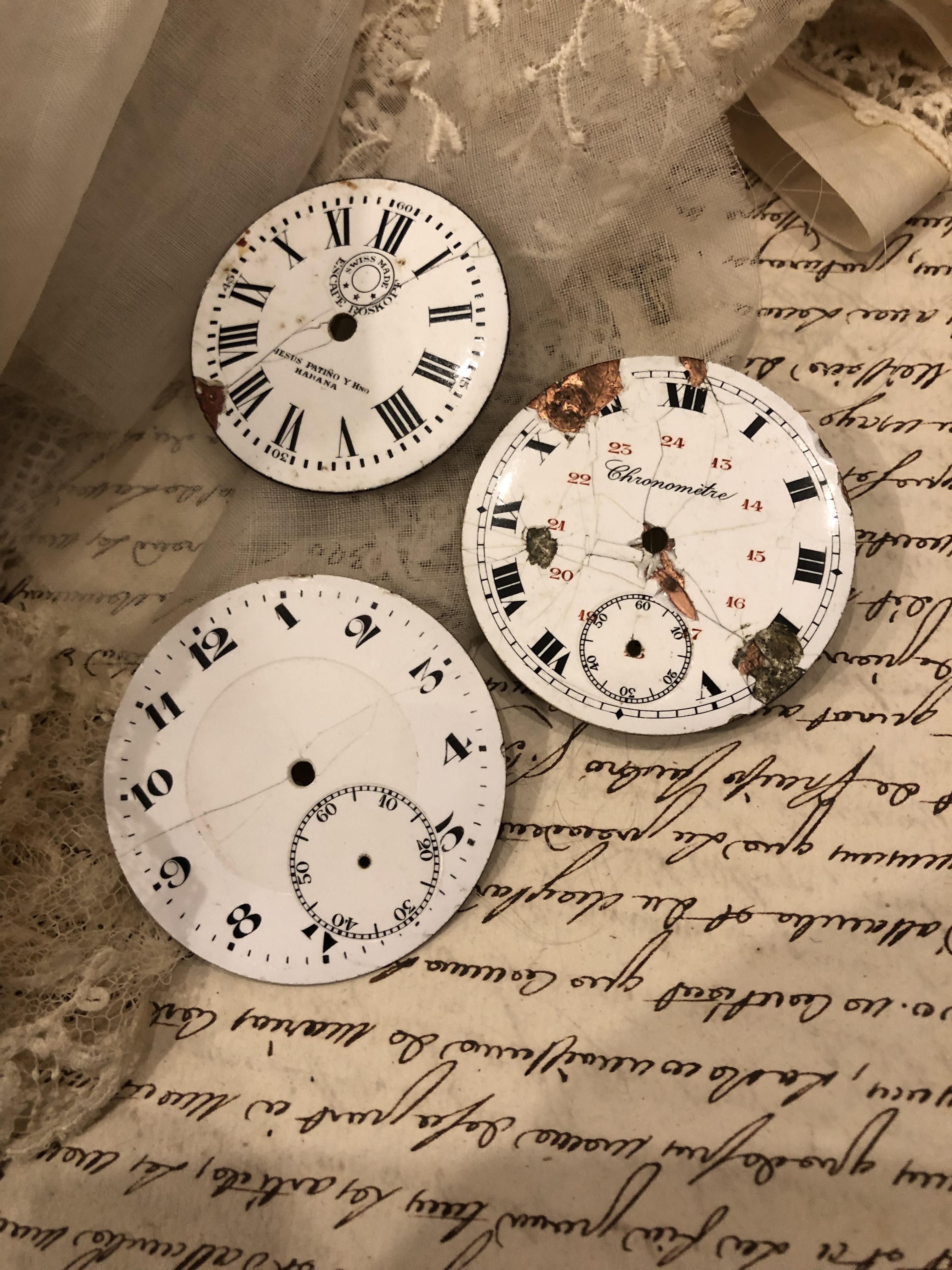 フランスブロカント ジャンク時計パーツ 3個セット CP002