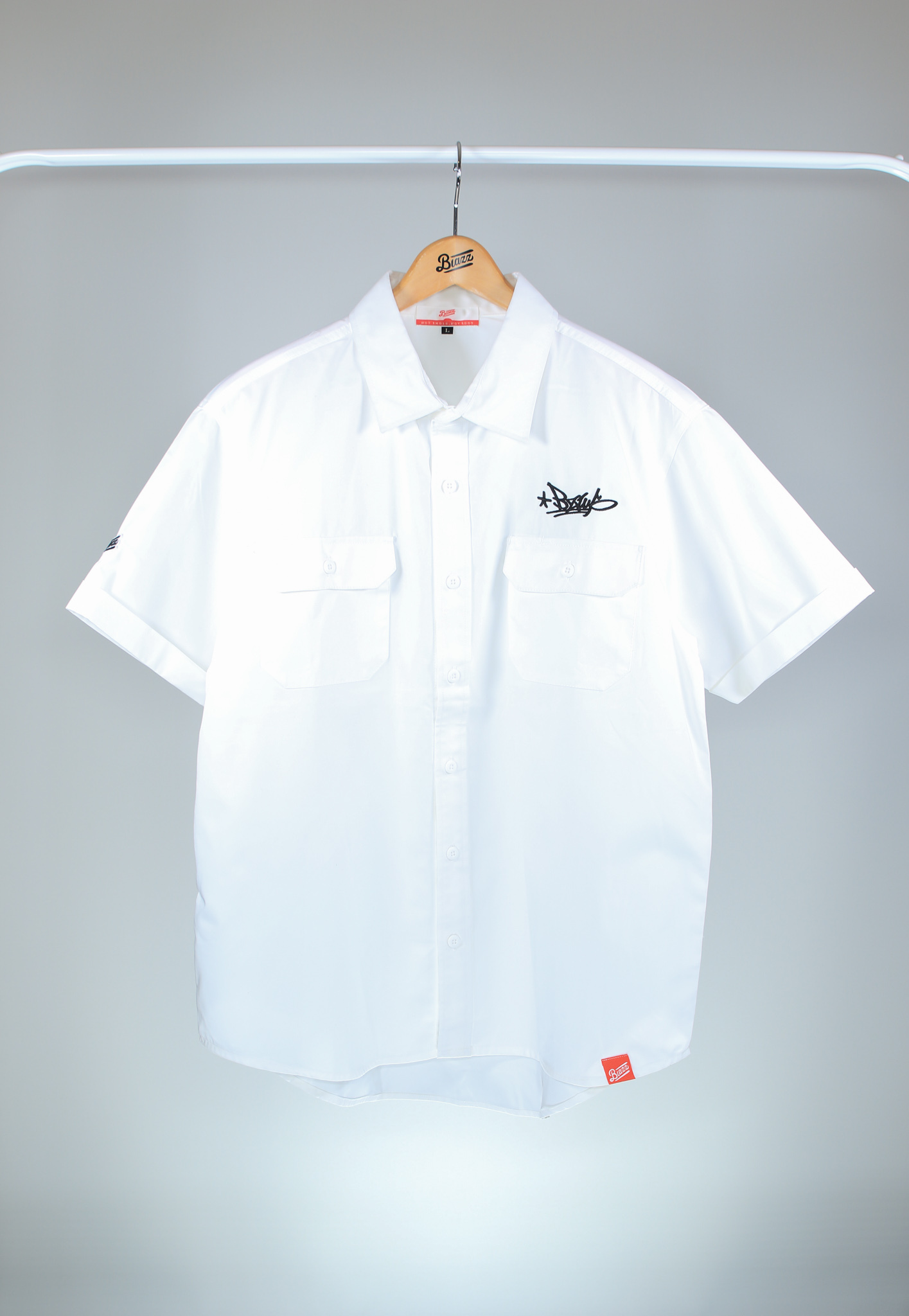 BZWS TAG T/C WORK SHIRT [OFF WHITE]