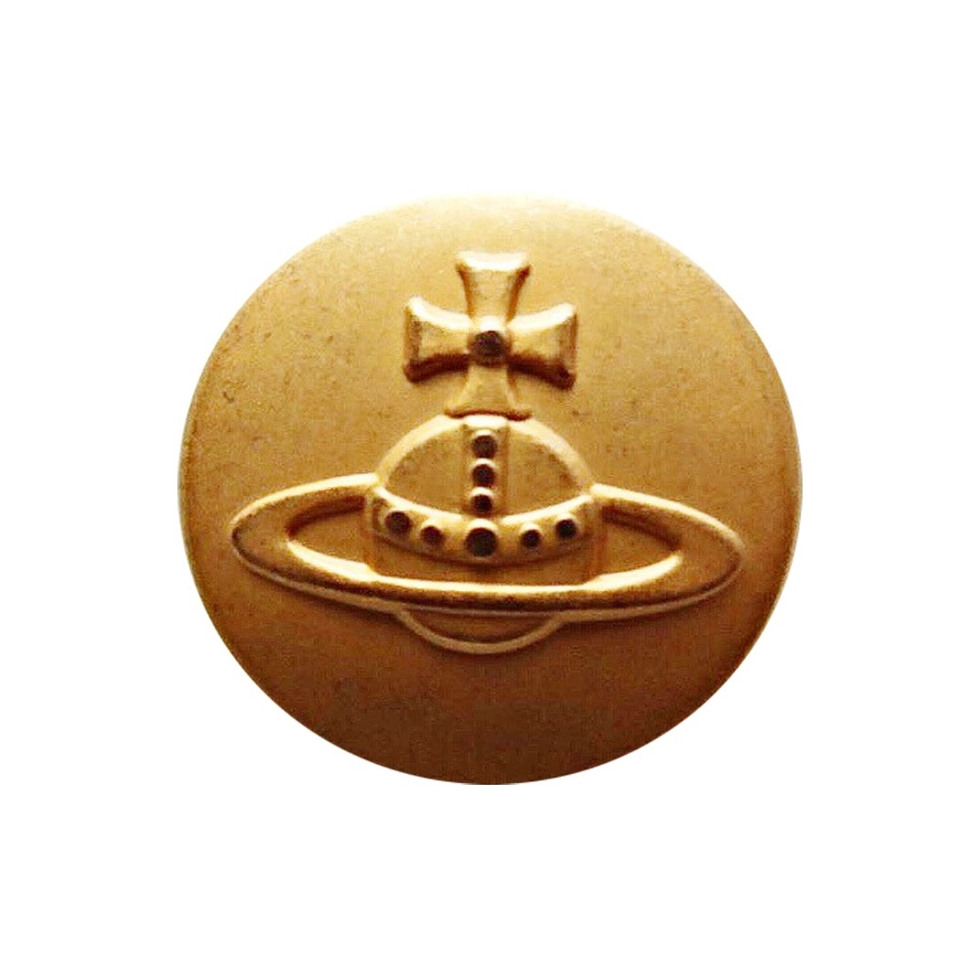 【VINTAGE Vivienne Westwood BUTTON】ゴールド オーブ ロゴ ボタン 23㎜