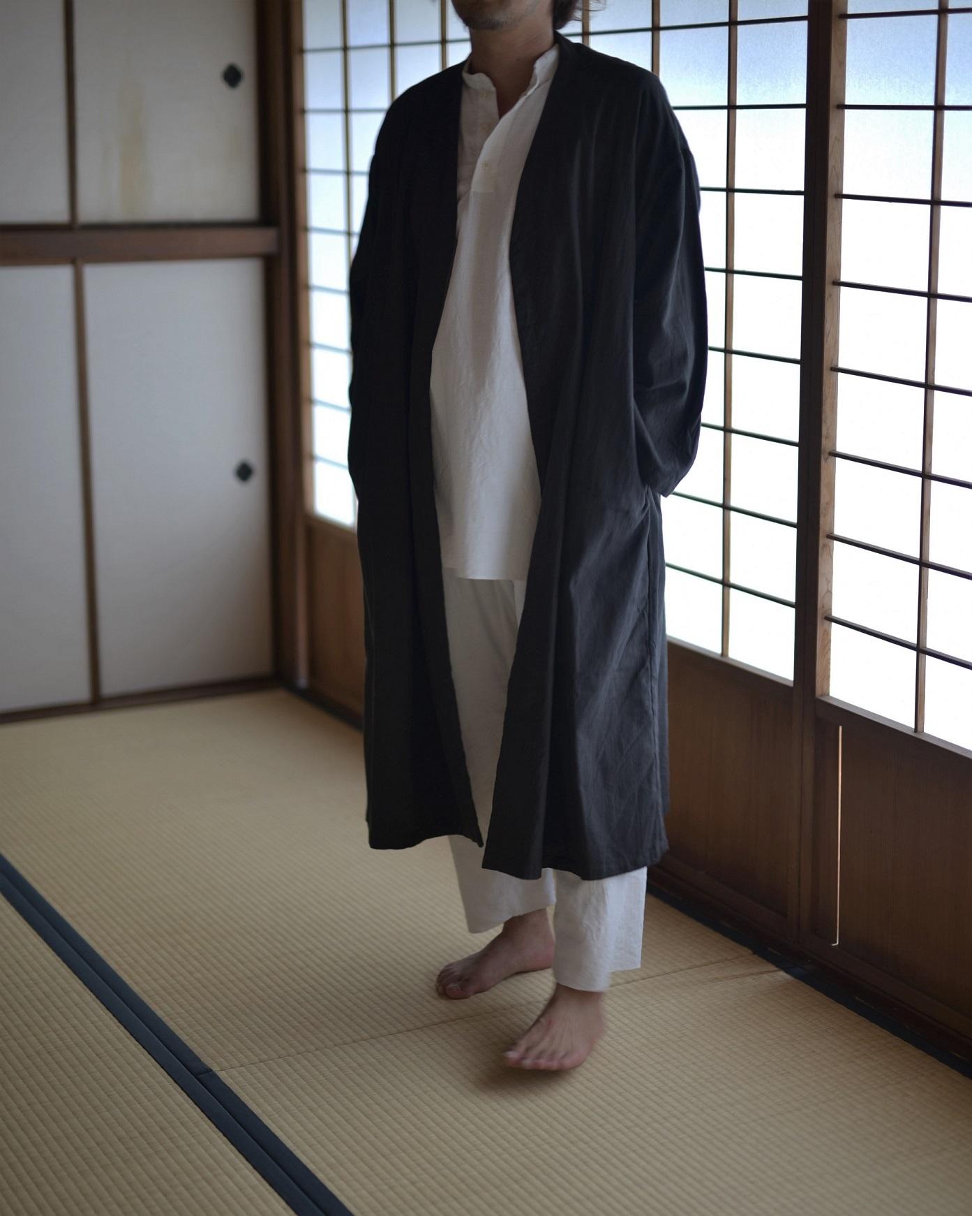 御茶屋跡 × YAECA khadi ユニセックス | 羽織り logwood