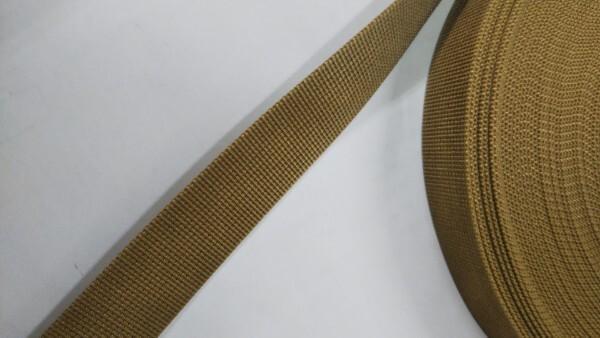 ナイロンテープ 高密度織 25mm幅 1mm厚 カラー 1反(50m)