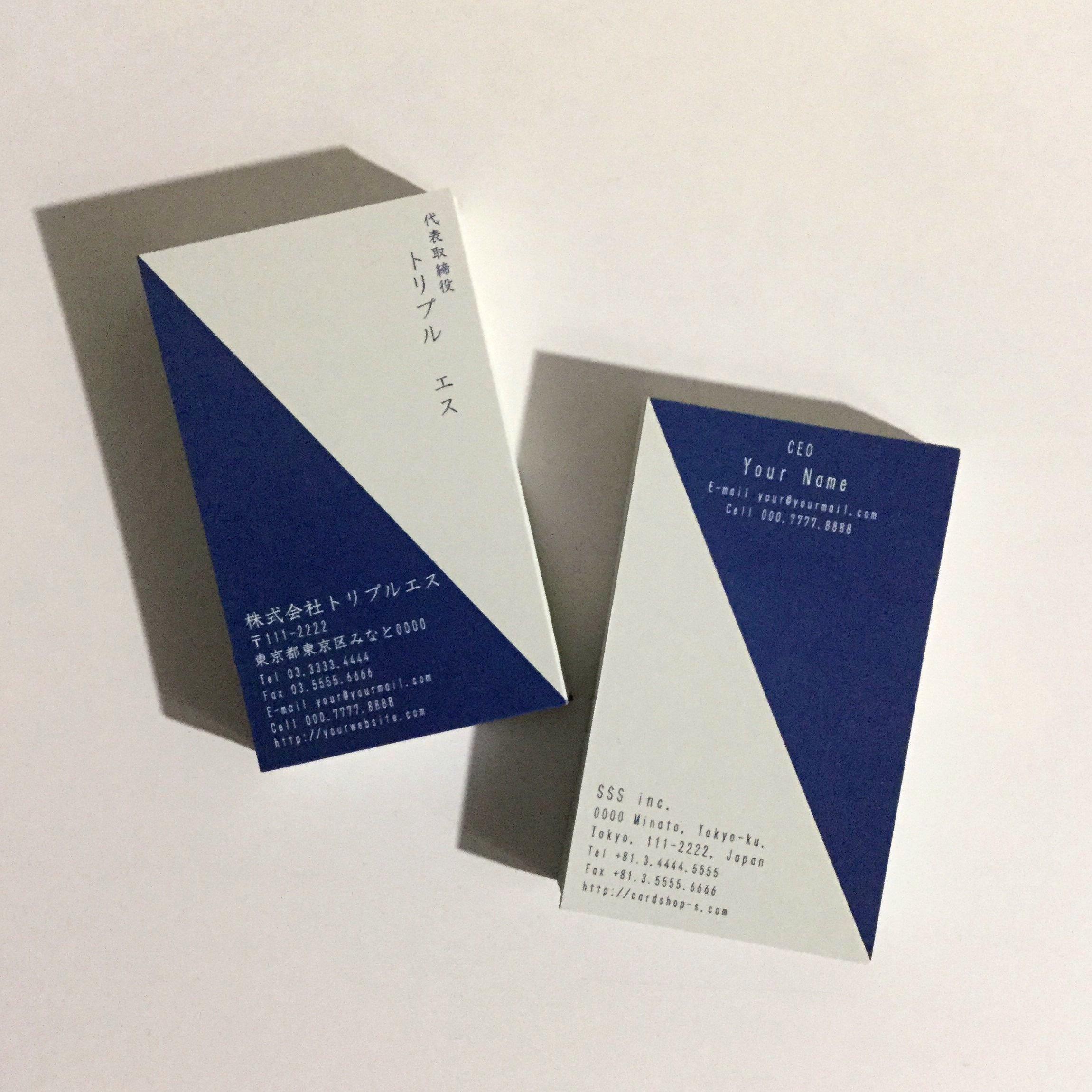 18d1_nev【100枚】ビジネス名刺【英表記】