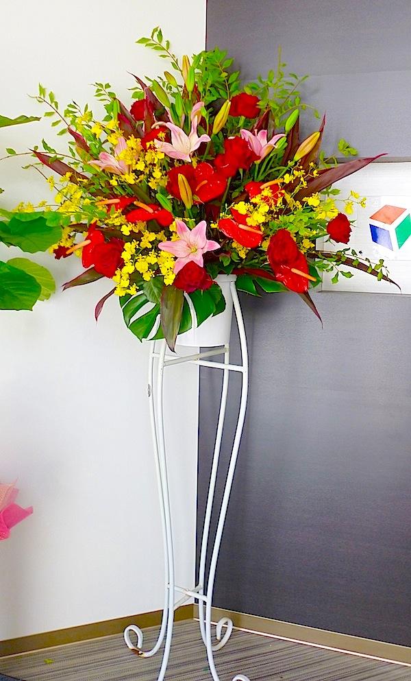 開店お祝い花・スタンド1段