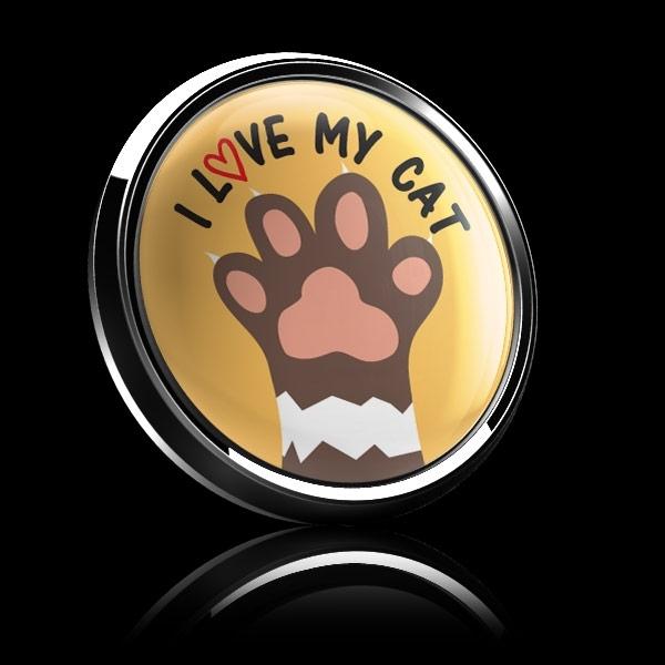 ドームバッジ(CD0994 - I LOVE MY CAT) - 画像2