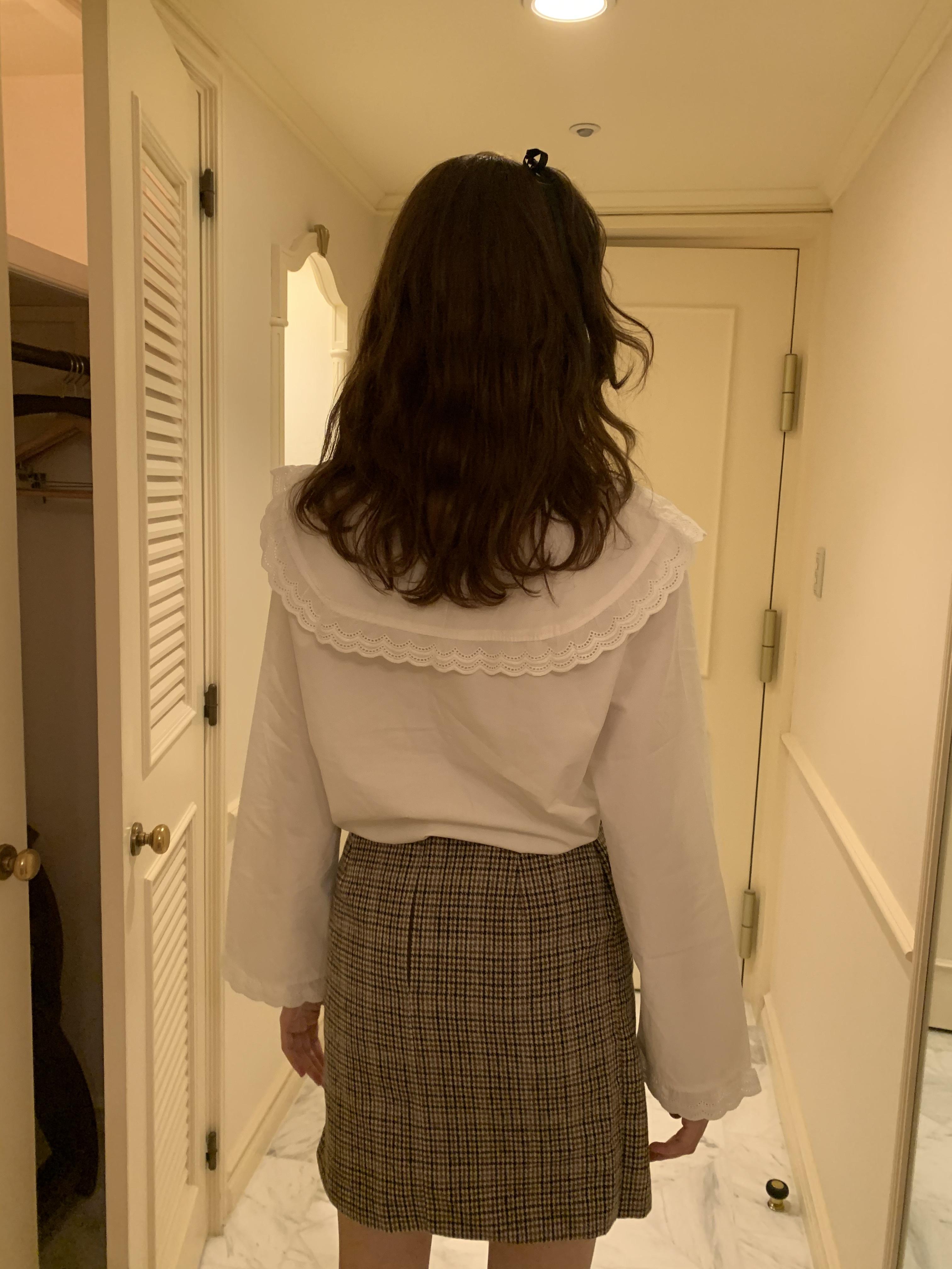 fill collar blouse