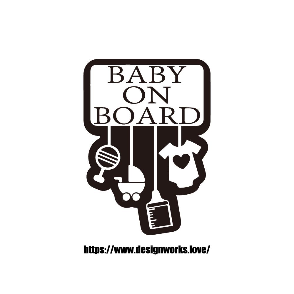 マグネット 全8色 BABY ON BOARD マストアイテム