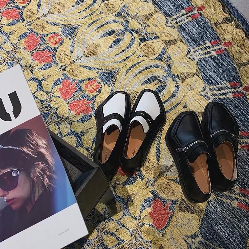 design toe zipper shoes