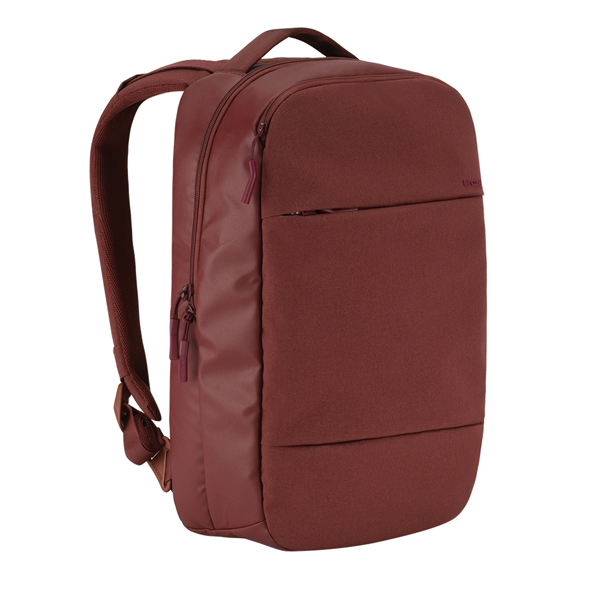 INCASE City Collection Compact Backpack - Deep Red(Burgundy)
