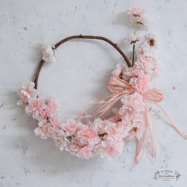 フリフリ桜のふんわりリースφ23cm