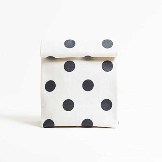 kamibukuro/black × polka dot カミブクロ / 墨 x 水玉